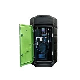 Citerne de stockage FUELSTATION/ARES 2500 L pour gazole, GNR et fioul avec kit de distribution.