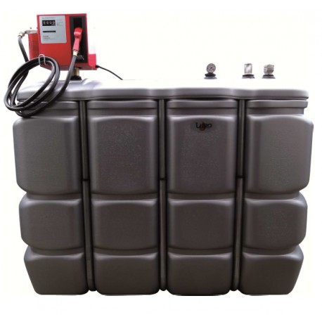 CUVE PEHD 2000 L - BOX DISTRIBUTION GASOIL 230 V